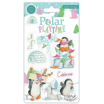 Craft Consortium POLAR PLAYTIME Clear Stamps CCSTMP023