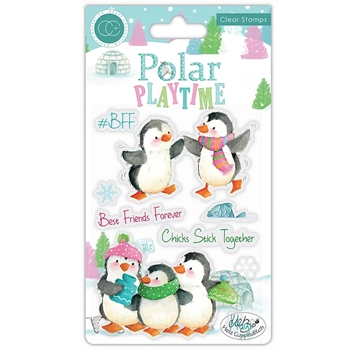 Craft Consortium POLAR PLAYTIME BFF Clear Stamps CCSTMP022