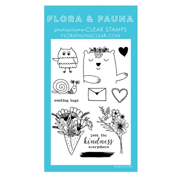 Flora and Fauna ANIMAL SENDING LOVE Clear Stamps 20288