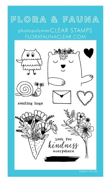 Flora and Fauna ANIMAL SENDING LOVE Clear Stamps 20288 zoom image