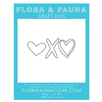 Flora and Fauna XO HEART Die 30135