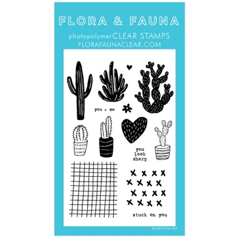 Flora and Fauna STUCK ON YOU 2 Clear Stamps 20287