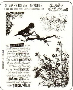 Tim Holtz Cling Rubber Stamps URBAN TAPESTRY CMS061 zoom image