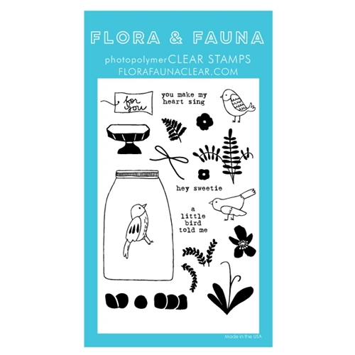 Flora and Fauna AVIARY FLOWER TERRARIUM Clear Stamps 20289 Preview Image
