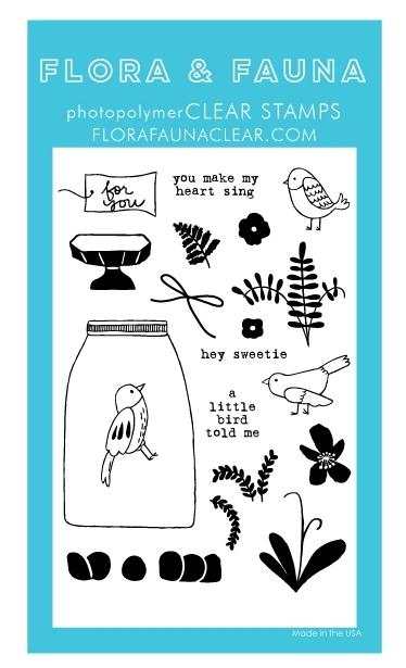 Flora and Fauna AVIARY FLOWER TERRARIUM Clear Stamps 20289 zoom image