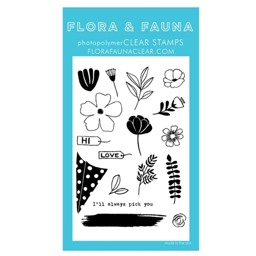 Flora and Fauna BUILD A BOUQUET Clear Stamps 20285 Preview Image