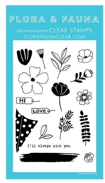 Flora and Fauna BUILD A BOUQUET Clear Stamps 20285 zoom image