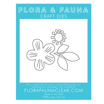 Flora and Fauna LINED FLOWER TRIO Die 30137
