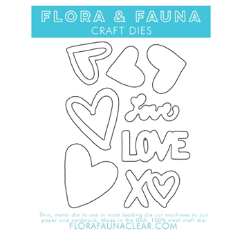 Flora and Fauna SOLID LOVE TEXTURE Dies 30138