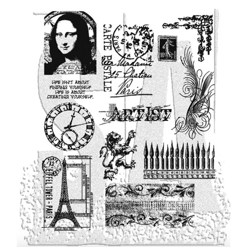 Tim Holtz Cling Rubber Stamps MINI CLASSICS CMS062 Preview Image