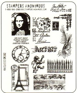 Tim Holtz Cling Rubber Stamps MINI CLASSICS CMS062*