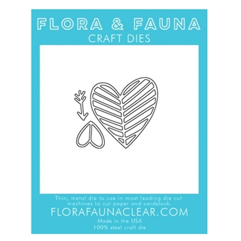 Flora and Fauna LINED HEART TRIO Die 30132