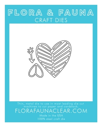 Flora and Fauna LINED HEART TRIO Die 30132 zoom image