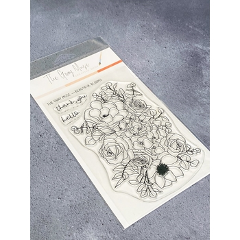 The Gray Muse BEAUTIFUL BLOOMS Clear Stamp Set tgm-d19-ss7