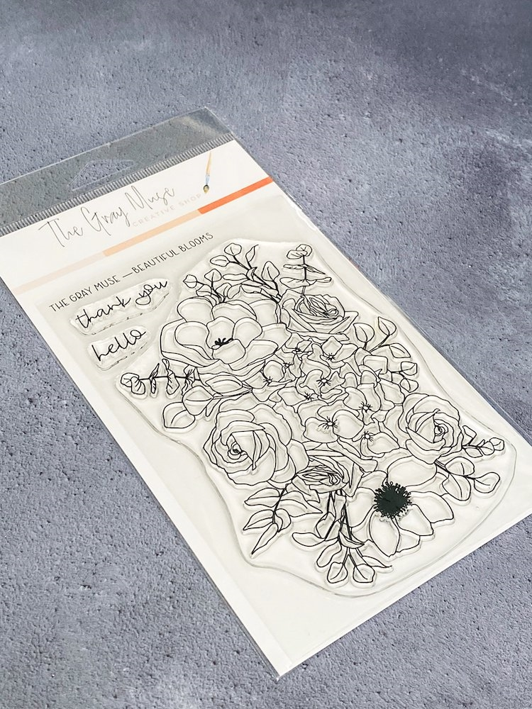 The Gray Muse BEAUTIFUL BLOOMS Clear Stamp Set tgm-d19-ss7 zoom image