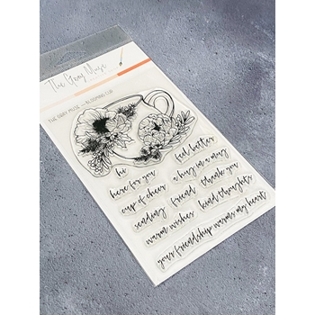 The Gray Muse BLOOMING CUP Clear Stamp Set tgm-d19-ss8
