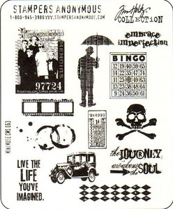 Tim Holtz Cling Rubber Stamps MINI MUSE Stampers Anonymous CMS063*
