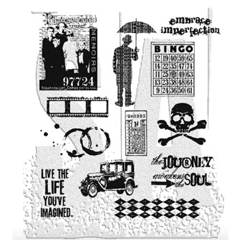 Tim Holtz Cling Rubber Stamps MINI MUSE CMS063