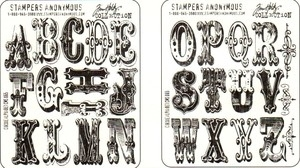 Tim Holtz Cling Rubber Stamps CIRQUE ALPHABET cms065 Stampers Anonymous zoom image
