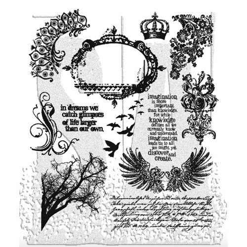Tim Holtz Cling Rubber Stamps MINI ORNATES CMS064 Preview Image
