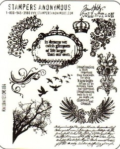 Tim Holtz Cling Rubber Stamps MINI ORNATES Stampers Anonymous CMS064*