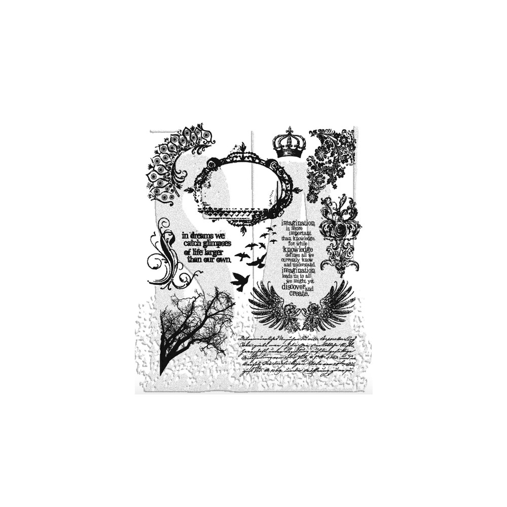 Tim Holtz Cling Rubber Stamps MINI ORNATES CMS064 zoom image