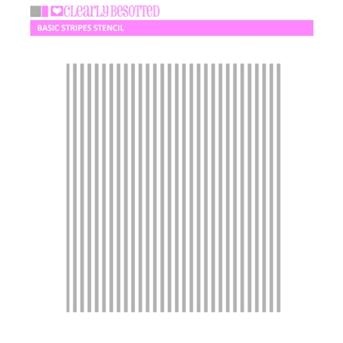 Clearly Besotted BASIC STRIPES Stencil Preview Image