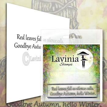 Lavinia Stamps RED LEAVES Clear Stamp LAV574