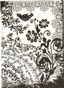 Tim Holtz Cling Rubber ATC Stamp TATTOO YOU Stampers Anonymous COM032 zoom image