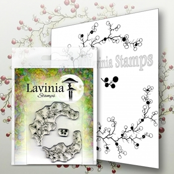 Lavinia Stamps BERRY WREATH WITH MINI BERRIES Clear Stamps LAV568