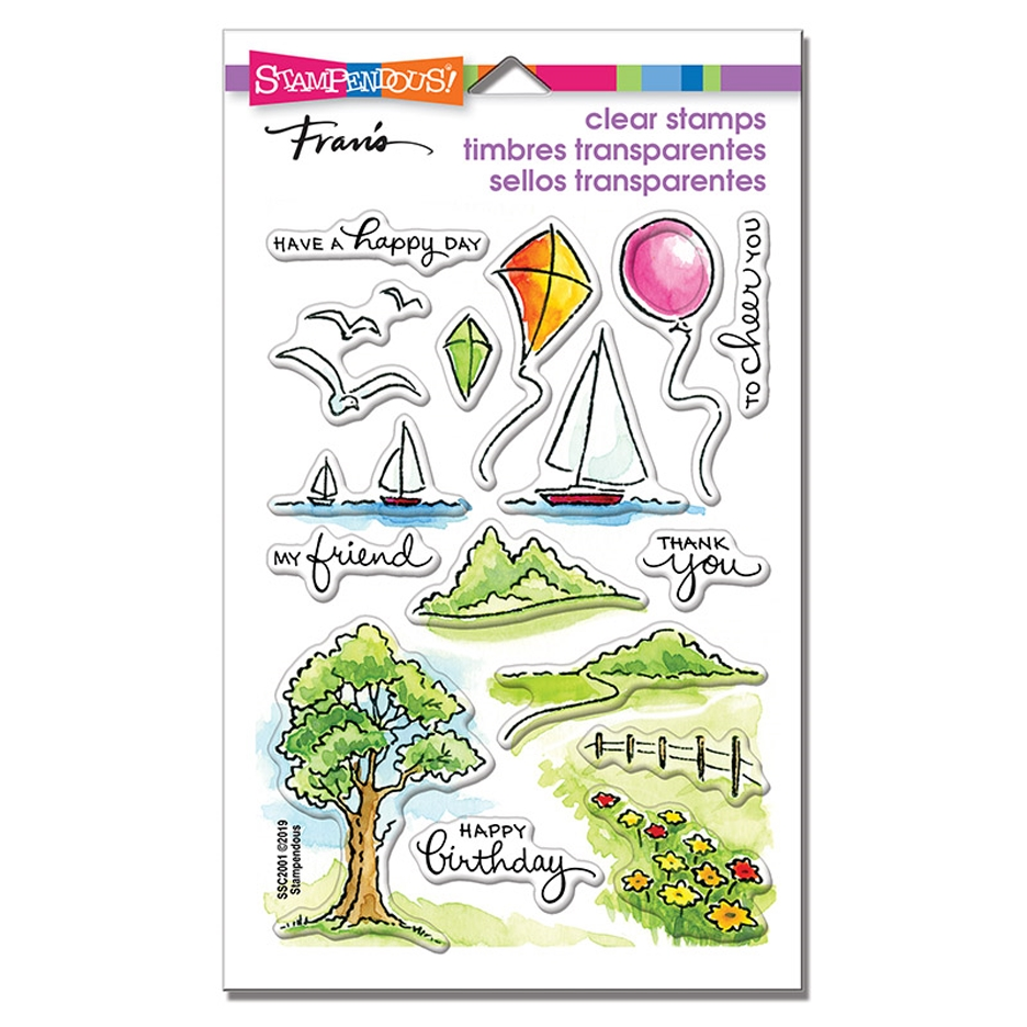 Stampendous Clear Stamps SCENIC SAMPLER ssc2001 zoom image