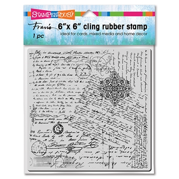 Stampendous Cling Stamp POSTED SCRIPT 6cr021