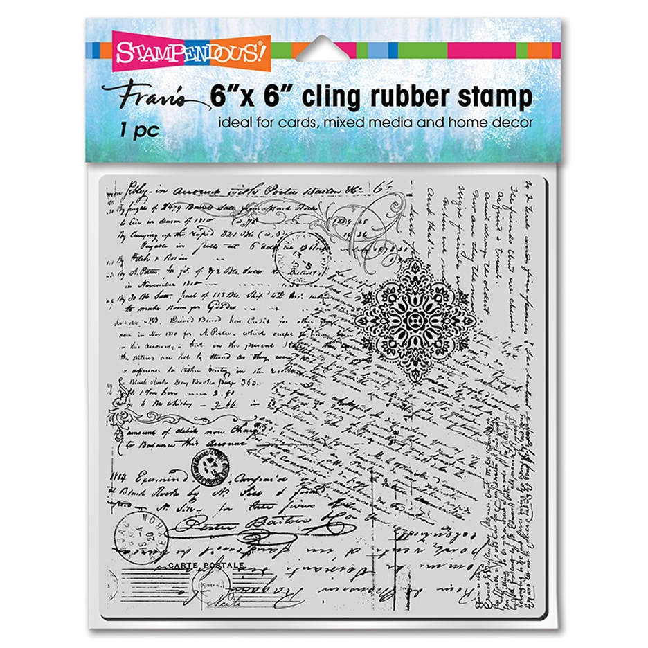 Stampendous Cling Stamp POSTED SCRIPT 6cr021 zoom image