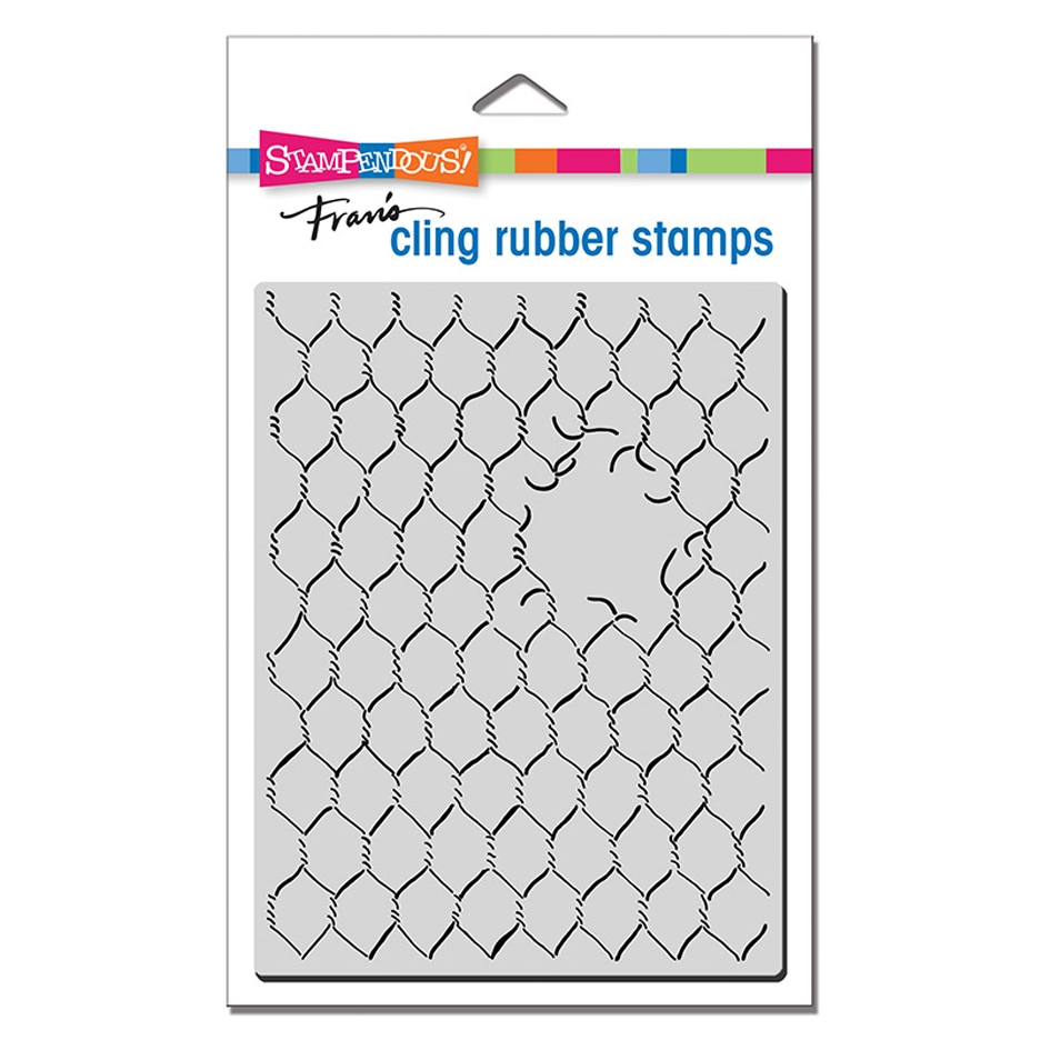 Stampendous Cling Stamp CHICKEN WIRE crr318 zoom image