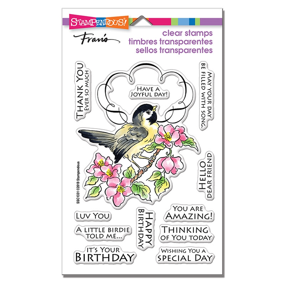 Stampendous Clear Stamps BIRD FRAME ssc1331 zoom image