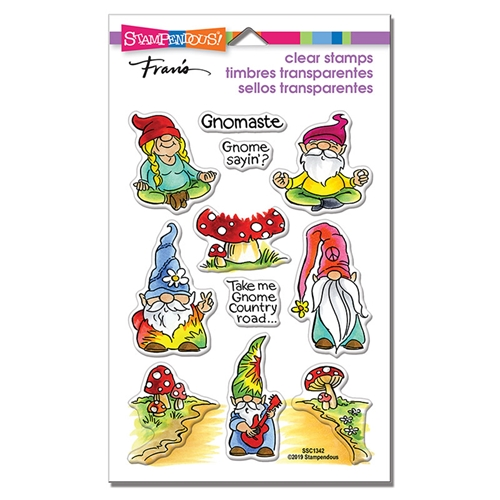 Stampendous Clear Stamps GNOMASTE ssc1342 Preview Image