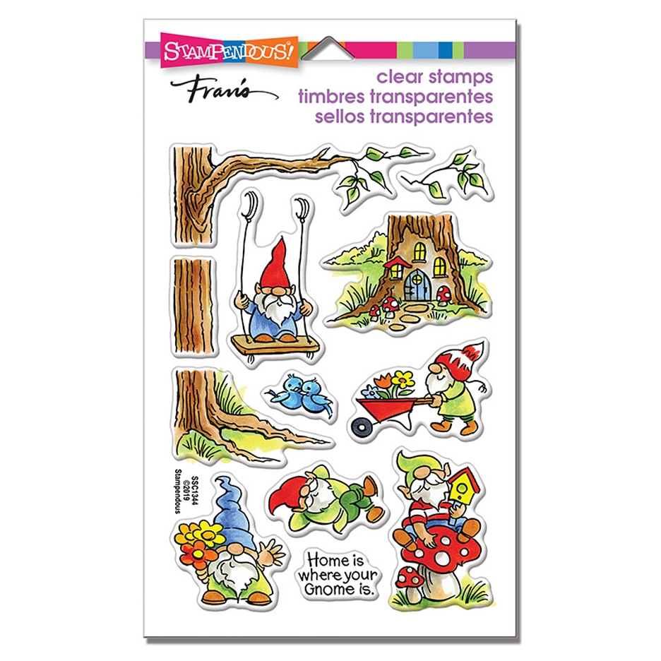 Stampendous Clear Stamps GNOMING AROUND ssc1344 zoom image