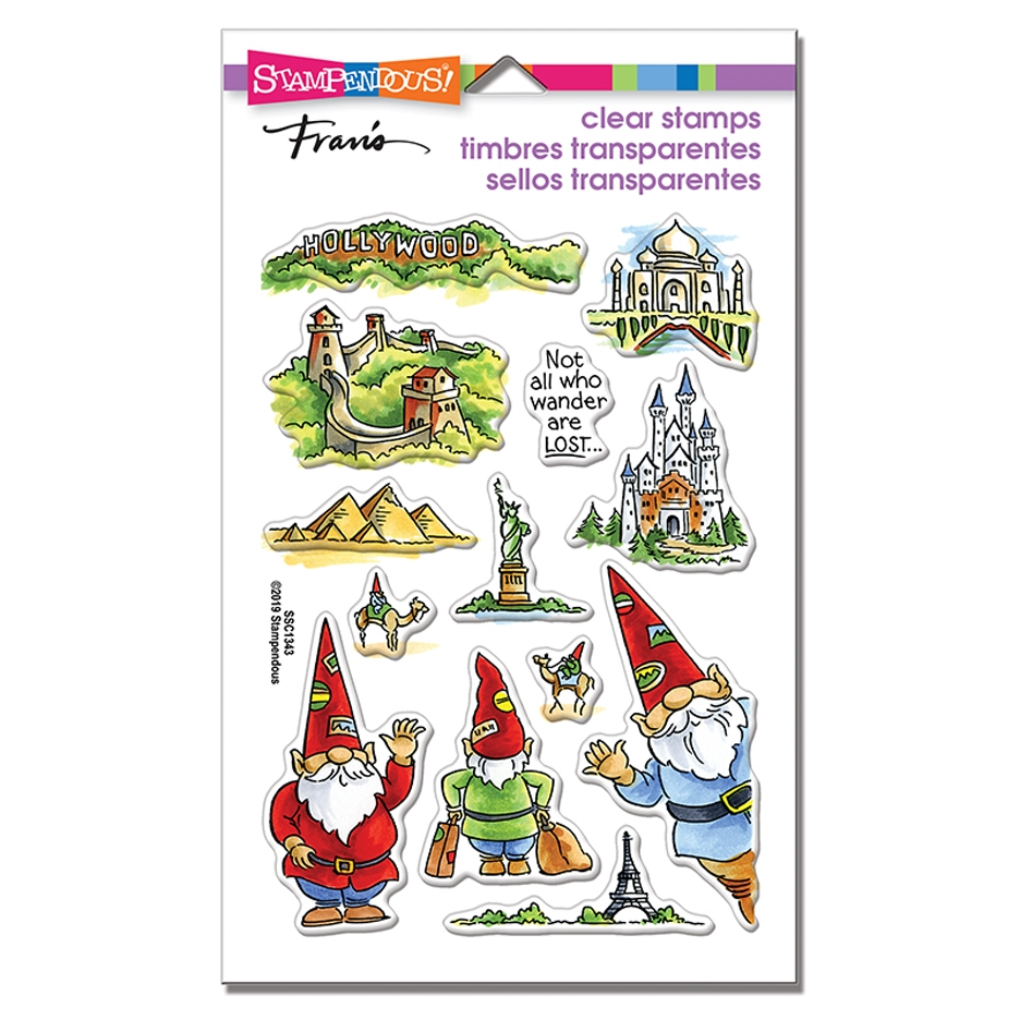 Stampendous Clear Stamps GNOME TRAVELS ssc1343 zoom image
