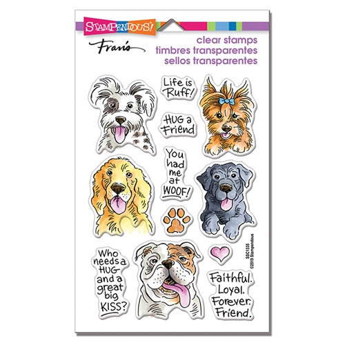 Stampendous Clear Stamps DOG KISSES ssc1335 Preview Image