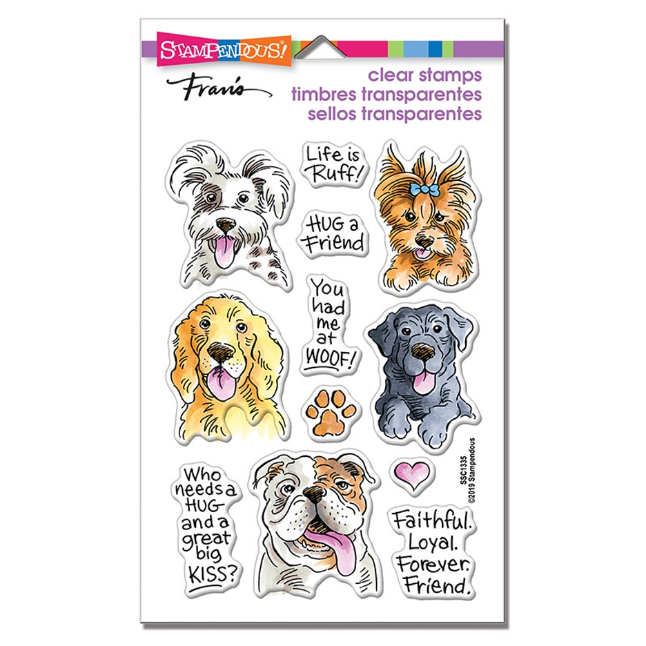 Stampendous Clear Stamps DOG KISSES ssc1335 zoom image
