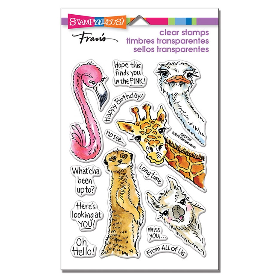 Stampendous Clear Stamps PEEKING PALS ssc1340 zoom image