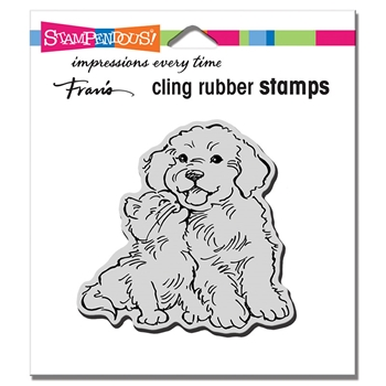 Stampendous Cling Stamp KITTY KISS crq251