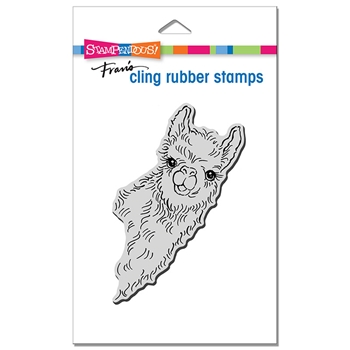Stampendous Cling Stamp LLAMA LOOK crp347