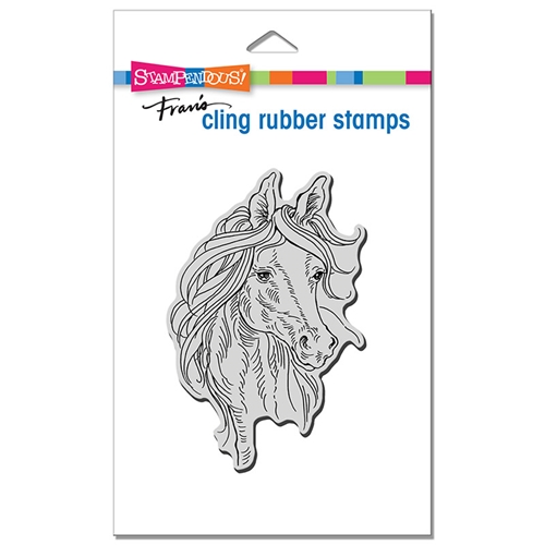 Stampendous Cling Stamp HORSE PORTRAIT crp346 Preview Image
