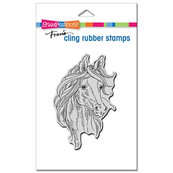 Stampendous Cling Stamp HORSE PORTRAIT crp346