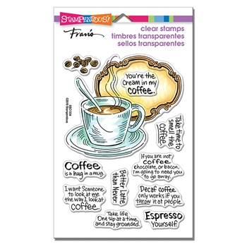 Stampendous Clear Stamps COFFEE FRAME ssc1334