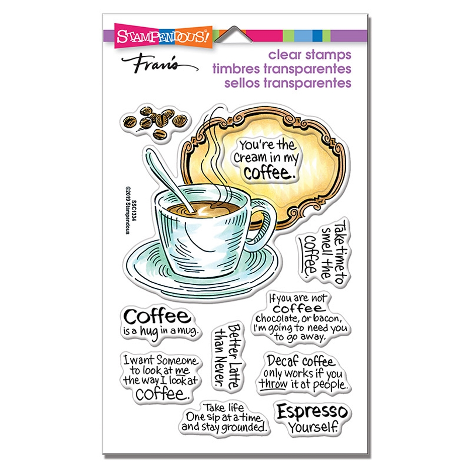 Stampendous Clear Stamps COFFEE FRAME ssc1334 zoom image