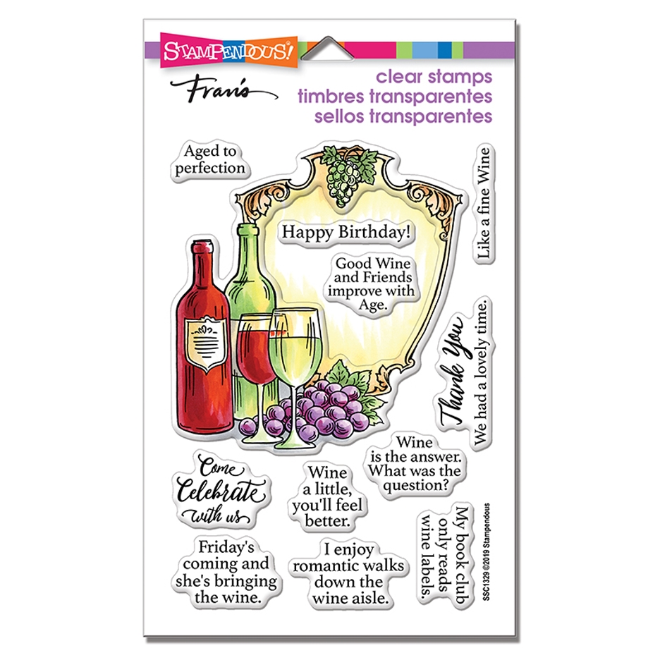 Stampendous Clear Stamps WINE FRAME ssc1329 zoom image