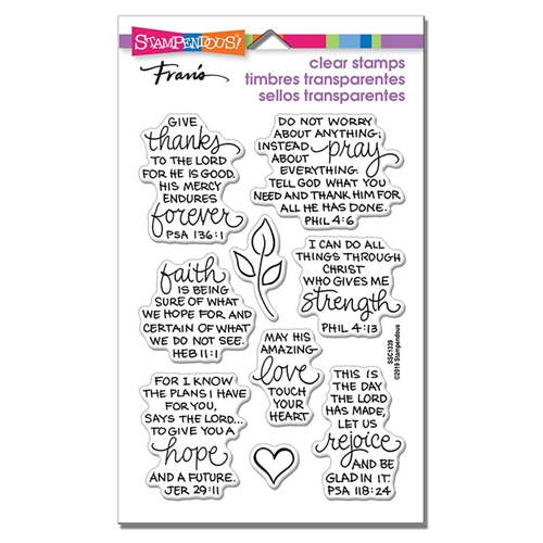 Stampendous Clear Stamps BIBLE VERSES ssc1339 Preview Image