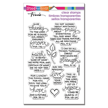 Stampendous Clear Stamps BIBLE VERSES ssc1339